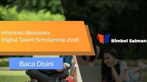 Beasiswa Digital Talent Scholarship 2018 Dari Kemenkominfo