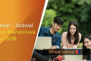 Jadwal - Jadwal Calon Mahasiswa Baru 2018