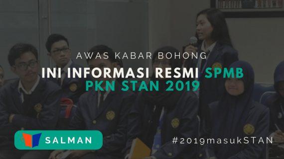 Informasi SPMB PKN STAN 2019
