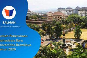 Jumlah Penerimaan Mahasiswa Baru Universitas Brawijaya Tahun 2020