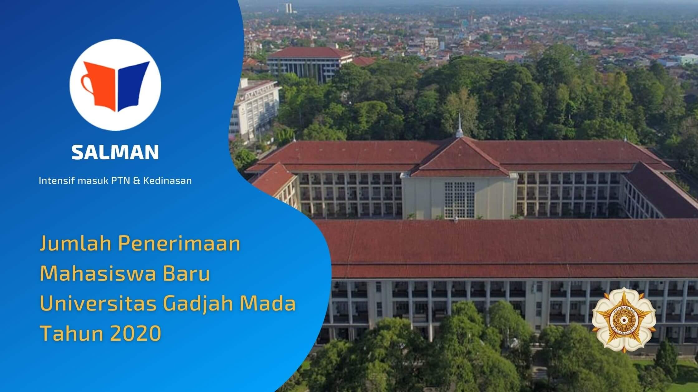 Jumlah Penerimaan Mahasiswa Baru Universitas Gadjah Mada Tahun 2020