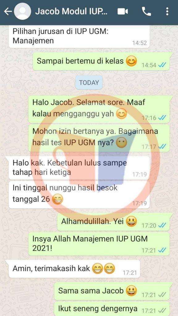 Testimoni IUP UGM Jacbo