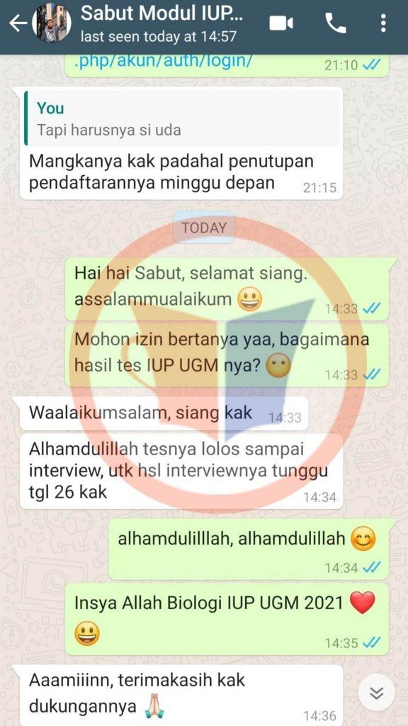 Testimoni IUP UGM Sabut